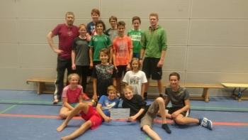 Trainingsgruppe-strene des sports danke
